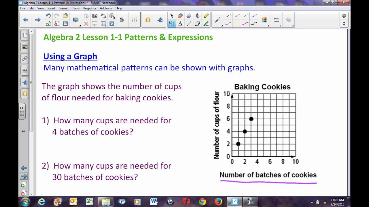 Algebra 2 Lesson 1 1 Patterns Amp Expressions