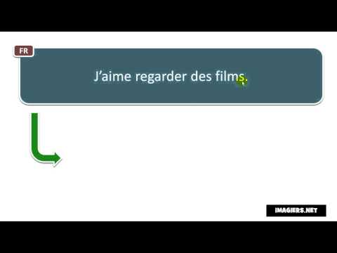 How to say i like watching movies in french