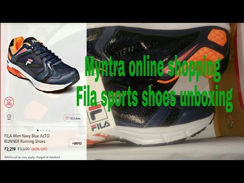 Myntra Online Shopping Fila Sports Shoes Unboxing