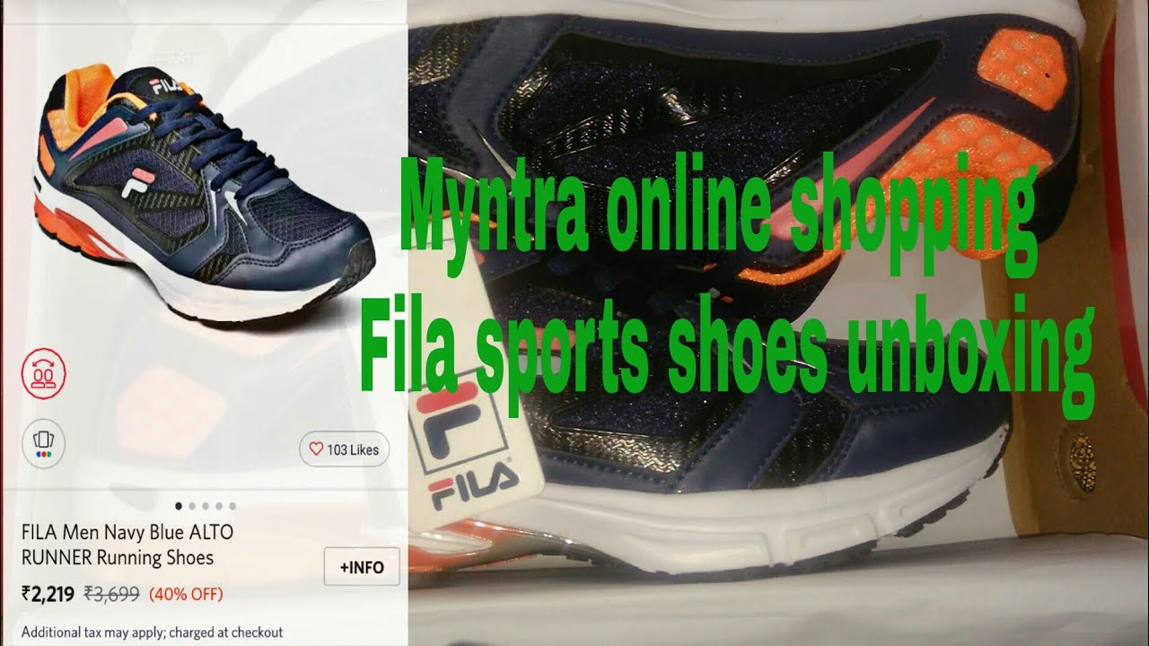 c00b0cc8a9e Fila Online Sports Youtube Unboxing Shoes Shopping Myntra q0zwxzE