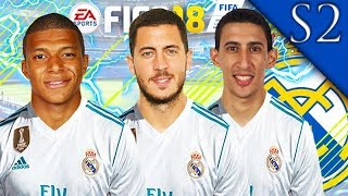 COURTOIS, DI MARIA SIGN! FIFA 18: REAL MADRID CAREER MODE S2 #2