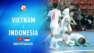 Vietnam (1) VS (1) Indonesia - AFC Futsal Championship 2017 U20