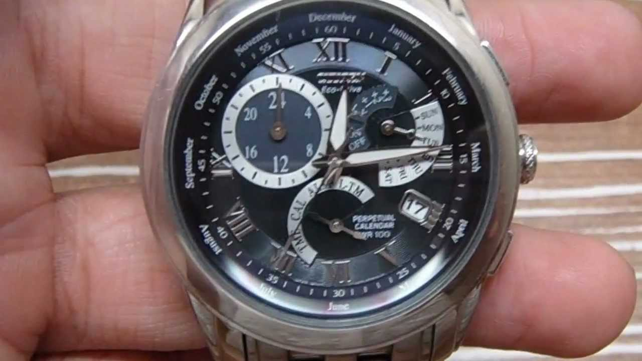 citizen perpetual calendar watch youtube rh youtube com citizen calibre 8700 manual citizen eco drive calibre 8700 manual set date