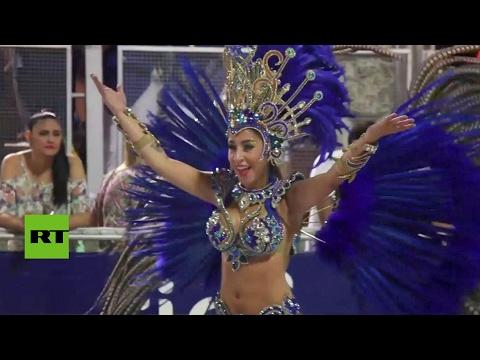 Paraguay celebra su mayor carnaval anual en la ciudad de Encarnación