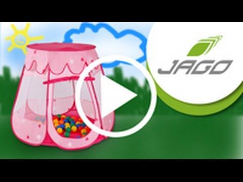 infantastic kinderzelt in rosa mit 100 b llen kdzt04 youtube. Black Bedroom Furniture Sets. Home Design Ideas