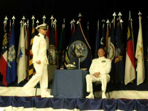 Auburn NROTC Spring Commissioning 2013- Ensign Hanna