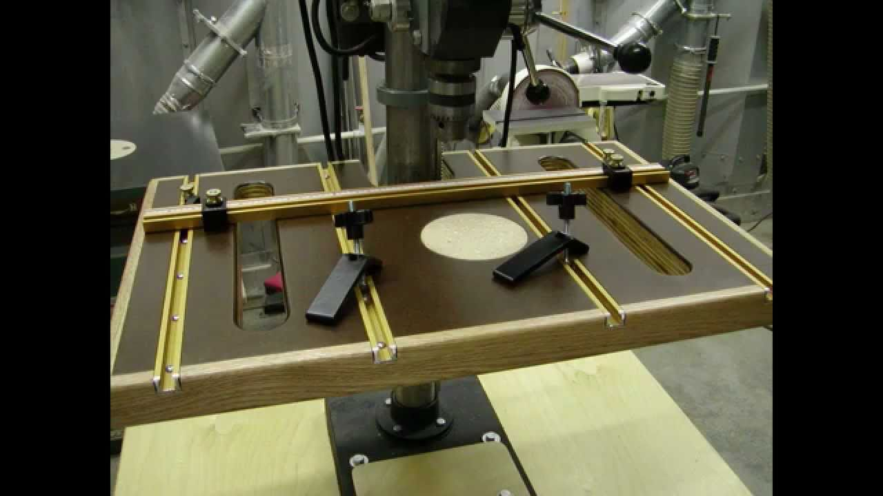 Drill Press Auxiliary Table Youtube