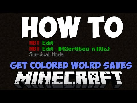 How to get colored world saves in minecraft! - NBTExplorer