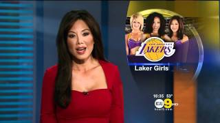 Sharon Tay 2012/02/03 KCAL9 HD; Going red