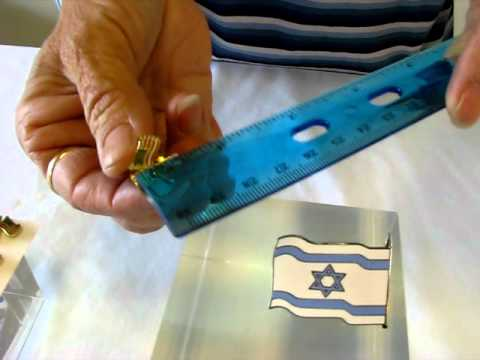 Israeli And United State Lapel Flag Pin