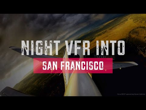 How to fly VFR into a Class Bravo at night and land at an international airport