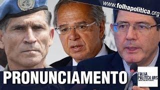 Paulo Guedes, General Santos Cruz e Joaquim Levy se pronunciam sobre mudanças na economia