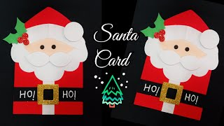 Santa Christmas Card/How to make Christmas Greeting Card/ Santa card/Simple and Easy Christmas Card