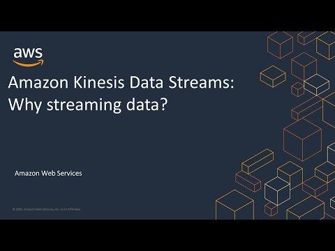 Amazon Kinesis Data Streams: Why Streaming Data?