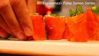 10 Numara Mutfak Kuşkonmazlı Füme Somon Sarma