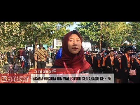 Suasana Wisuda UIN Walisongo Semarang Ke - 75 Periode Agustus 2019