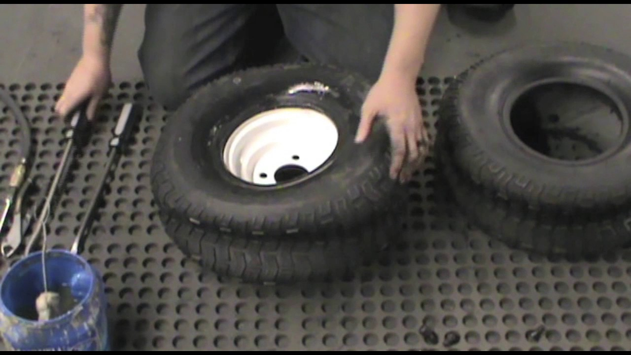 how to change a lawn mower tire