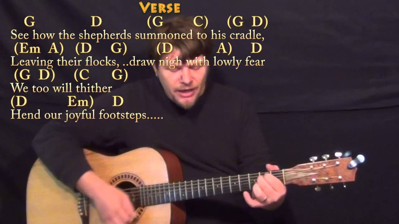 O Come All Ye Faithful Christmas Guitar Cover Lesson In G With