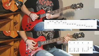 Code Red FULL cover with TABS and SOLOS   ACDC POWER UP
