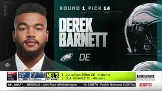 Eagles select DERECK BARNETT!! LETS GO! *Full*