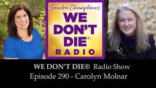 Episode 290 Carolyn Molnar - Afterlife Author, Medium and Instructor on We Don't Die Radio