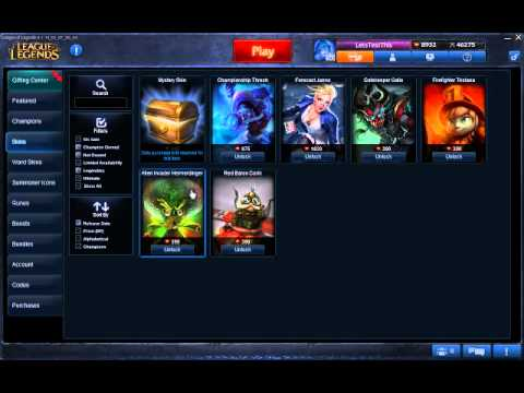 League Of Legends Shopping Mall :D PBE Sever - YouTube