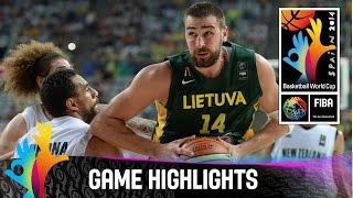 New Zealand v Lithuania - Game Highlights - Round of 16 - 2014 FIBA Basketball World Cup