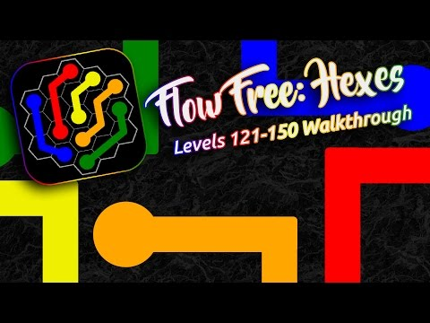FLOW FREE: HEXES - Classic Pack Levels 121-150 Walkthrough!