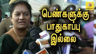 Sasikala Pushpa appears in court for sexual harassment case | Latest Speech at Madurai Airport