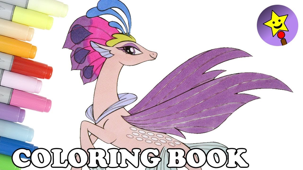 Queen Novo Seapony Coloring Book MLP My Little Pony The Movie Page