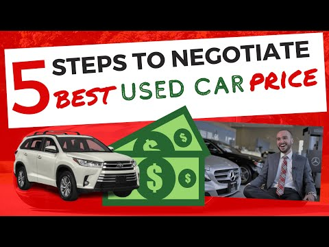 How To Negotiate Used Car Price At The Dealership In 5 Steps (2020)
