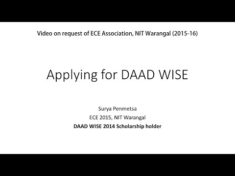 How To Apply for DAAD WISE Scholarship