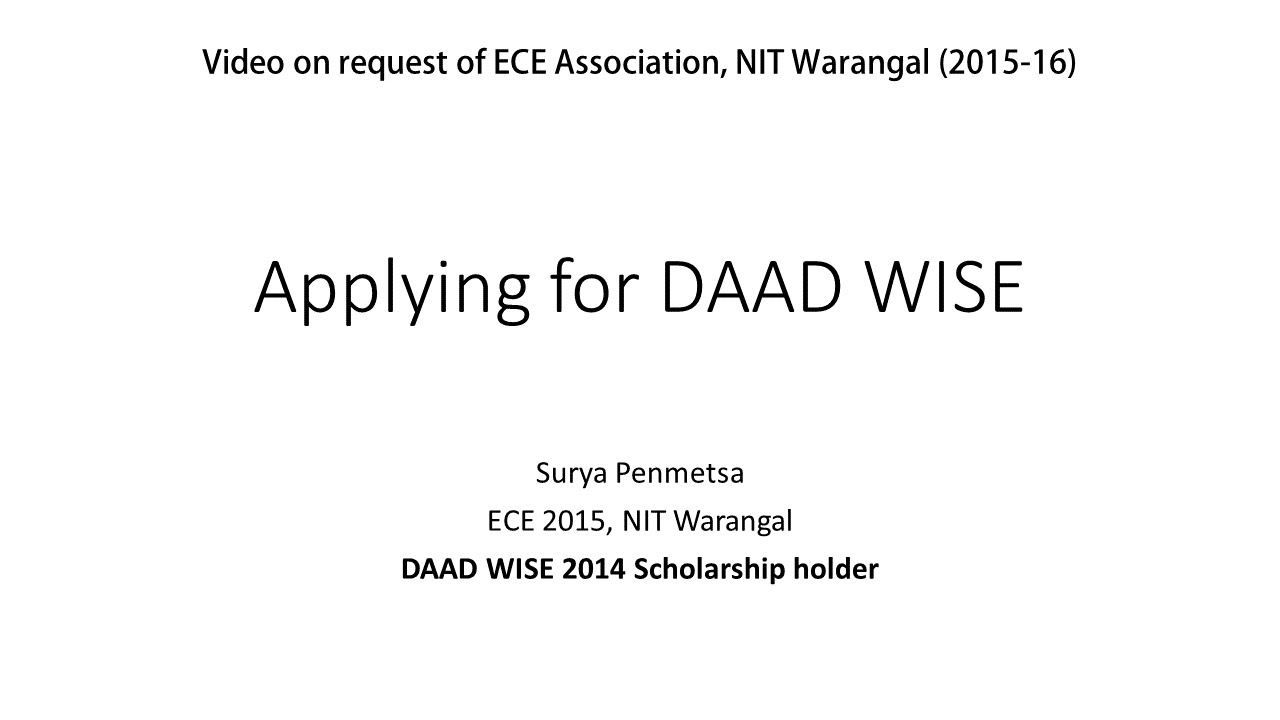How to apply for daad wise scholarship youtube madrichimfo Image collections