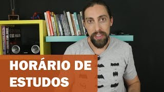 Como montar um horário de estudo | Vlog #09 | ENEM 2018
