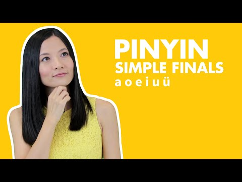 Learn Chinese Pinyin Lessons 1. Chinese Pinyin Simple Finals a o e i u ü: Pinyin Vowels