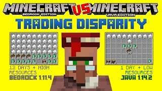 Minecraft Bugs| TRADING DISPARITY | Bedrock VS JAVA | Minecraft Bedrock Edition (MCBE)