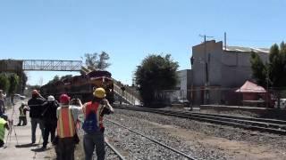 Tren KCSM llegando a Empalme Escobedo