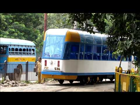 Kolkata (Calcutta) Trams - Esplanade Depot and a Ride on a New Tram Car