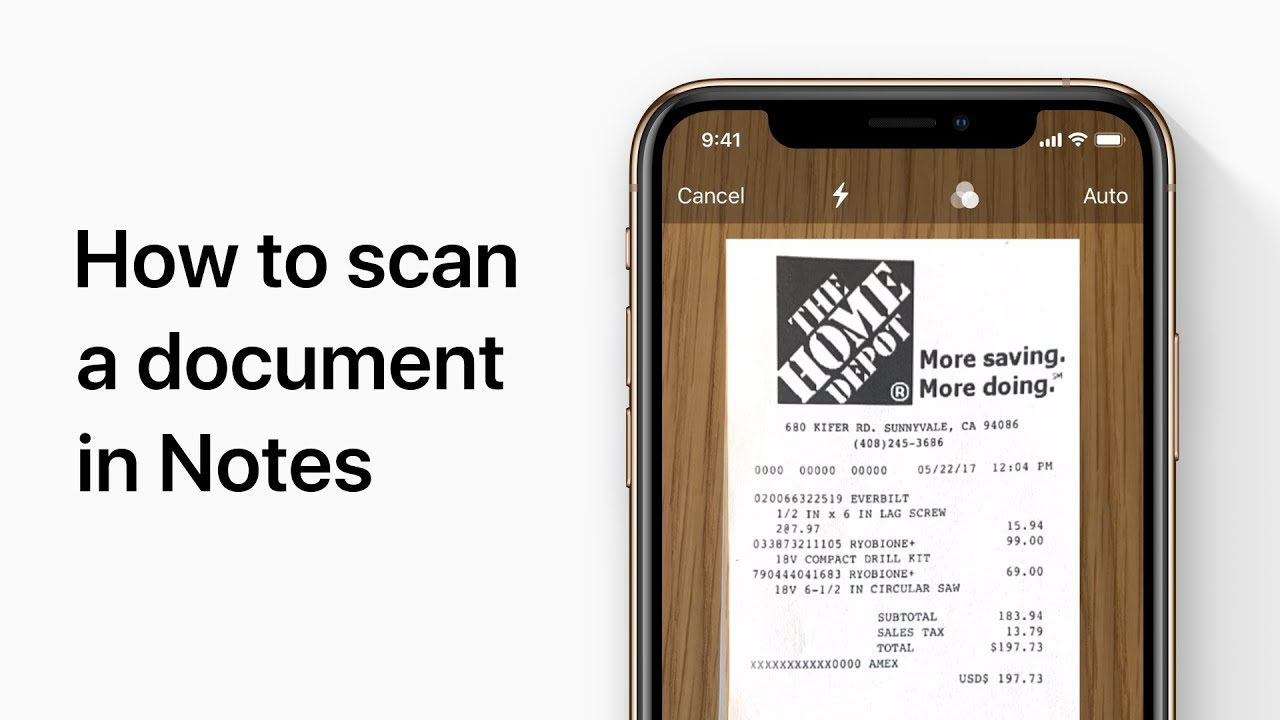 How to scan documents on your iPhone with the Notes app — Apple Support