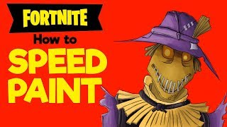 Speed-Painting Fortnite skin Scarecrow-How to make FANART