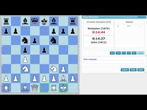 Live Chess: Developing Your Pieces Effectively
