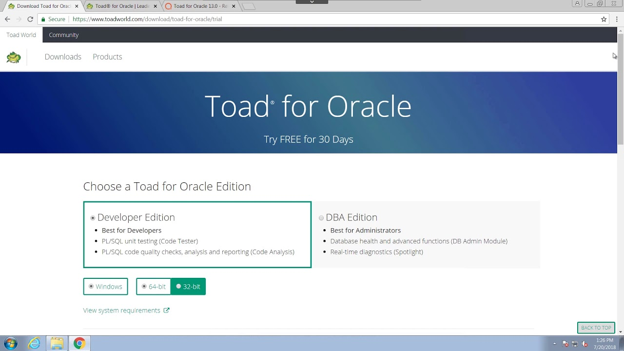 How to download and install Toad for Oracle
