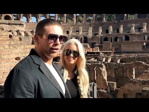 Rome and the Colosseum leave The Miz and Maryse in awe, as seen on Facebook Live