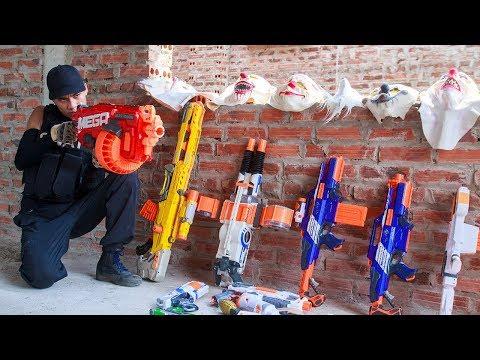 NERF WAR : SWAT Warriors Nerf Guns Fight Bandits Guards Dangerous Criminals Mask