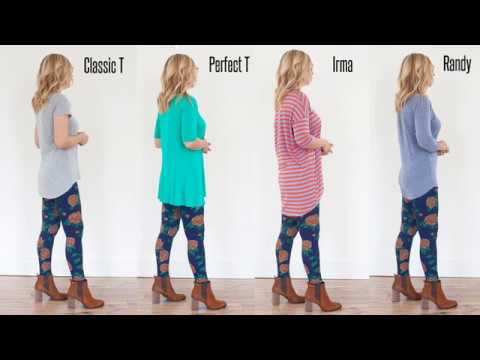 Lularoe Shirt Lengths Classic T Perfect T Irma And
