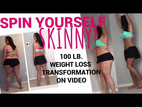 Spin Yourself Skinny! | 100 Lb. Weight Loss Transformation on Video | Before and After | WLS