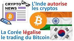 La France, l'Allemagne, l'Inde et la Corée du sud favorables aux cryptos