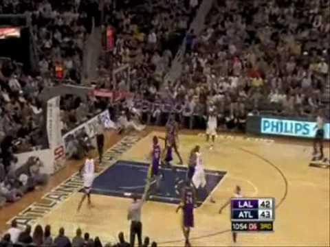 Lakers-Hawks 76-86 I Gasol 21pts,11reb,Bryant 17pts,8reb vs Bibby 21pts,5reb,Murray 14pts