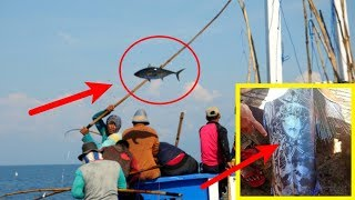"""Nelayan ini kaget,!! ikan yg didapat saat memancing tubuhnya penuh """"lukisan"""" misterius"""