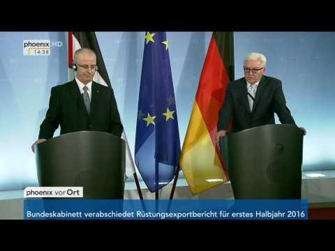 Deutsch-Palästinensischer Lenkungsausschuss: Frank-Walter Steinmeier gibt PK am 26.10.2016